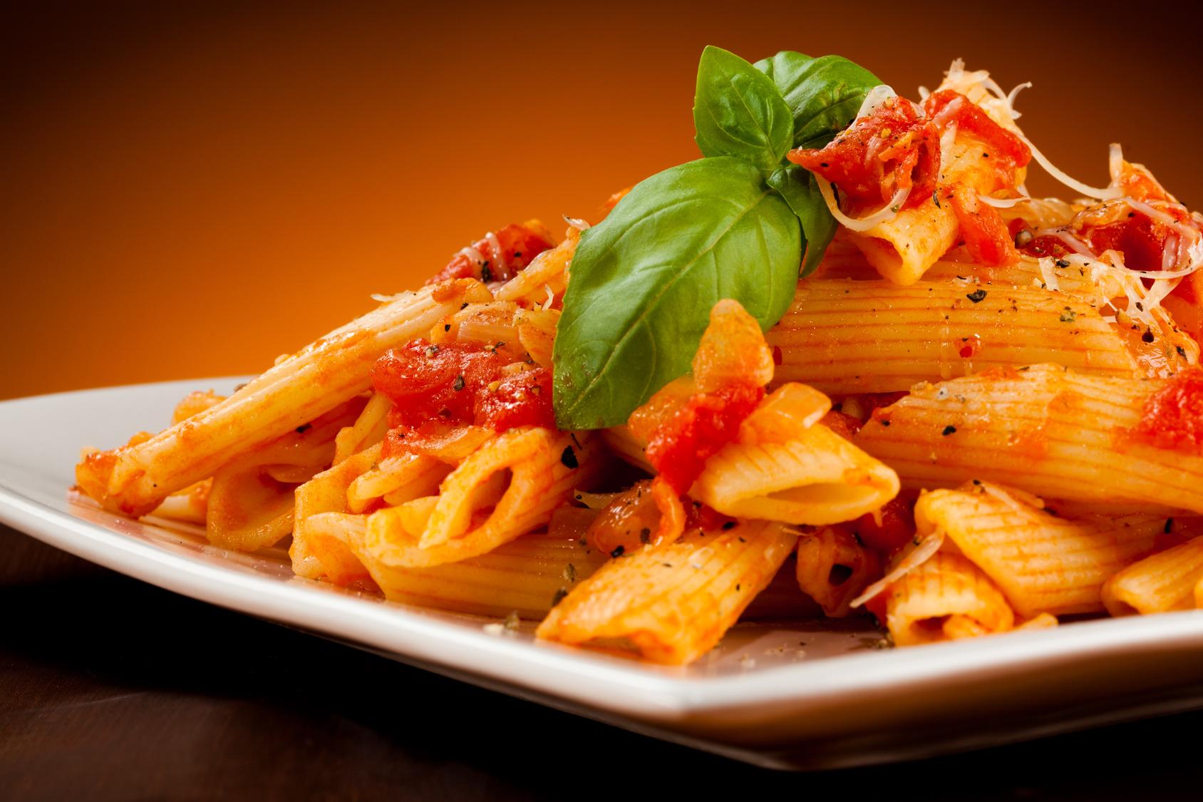 Nudelgerichte, Penne, Rigatoni, Lasagne